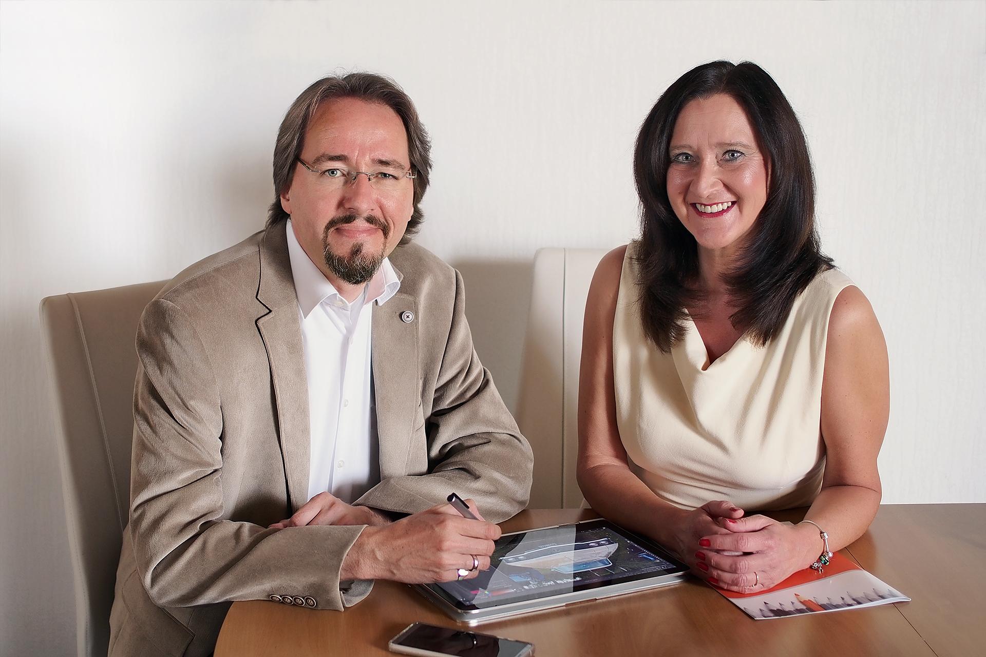 Foto vom Popkendesign-Team Roger Popken und Marion Gigerl