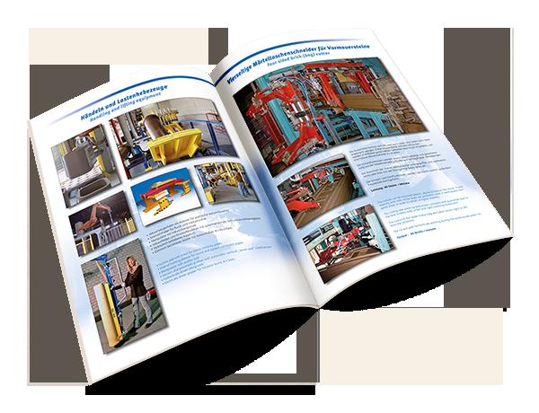 Grafikdesign Beispiel Imagebroschüre Firma Schoenbeck GmbH & Co. KG