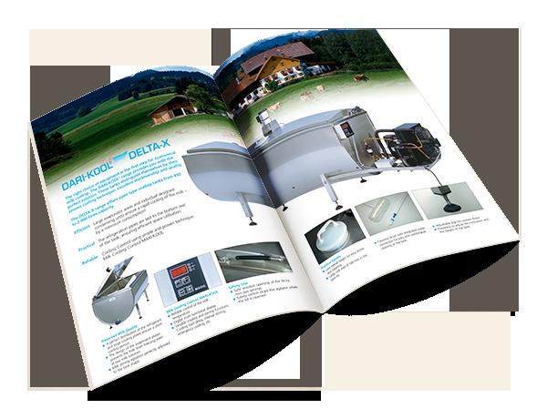 Grafikdesign Beispiel Produktbroschüre %22Delta-X%22 Firma Fabdec Ltd.
