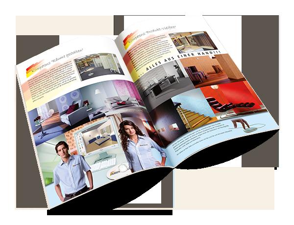 Grafikdesign Beispiel Imagebroschüre Winkler & Gräbner GmbH