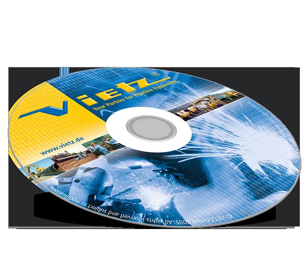 Grafikdesign Beispiel Daten-CD-Gestaltung Firma Vietz GmbH