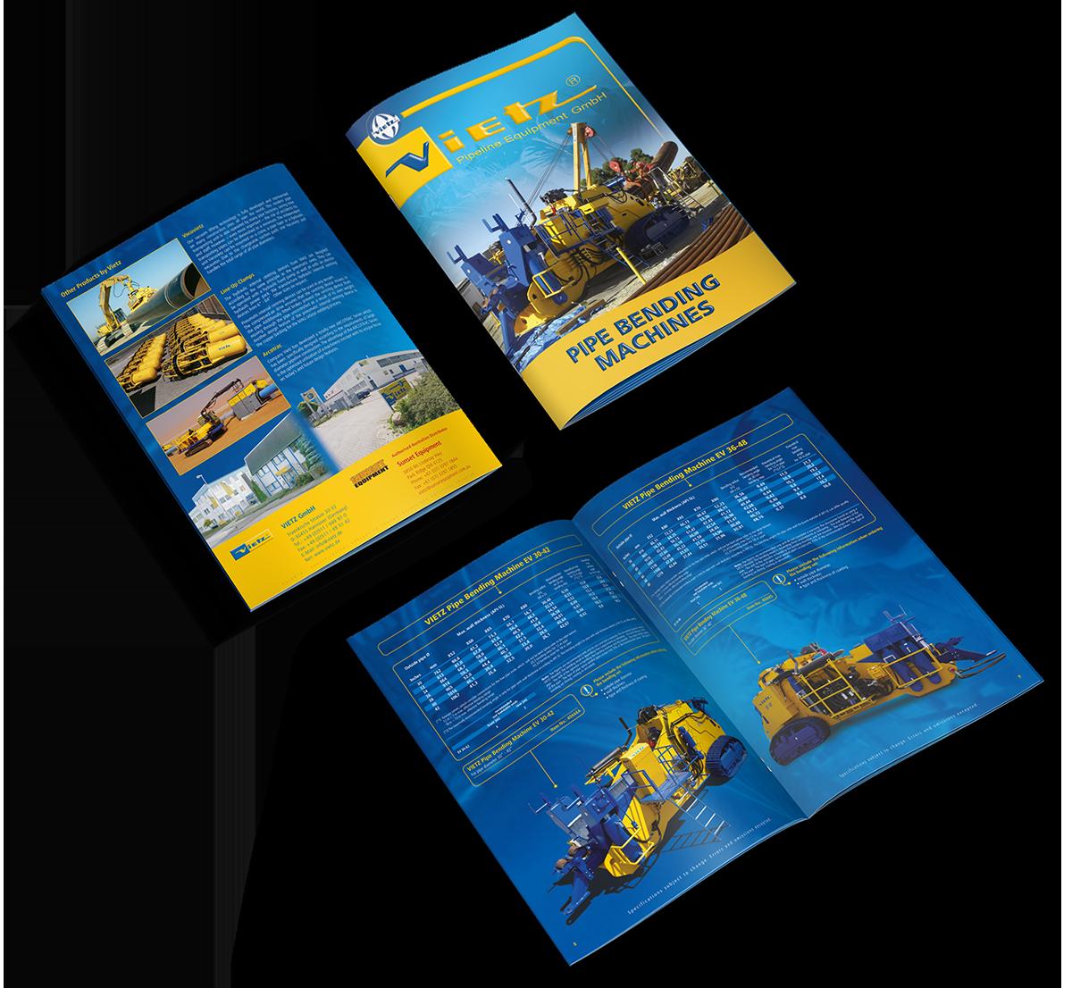 Grafikdesign Beispiel Imagebroschüre Firma Vietz GmbH